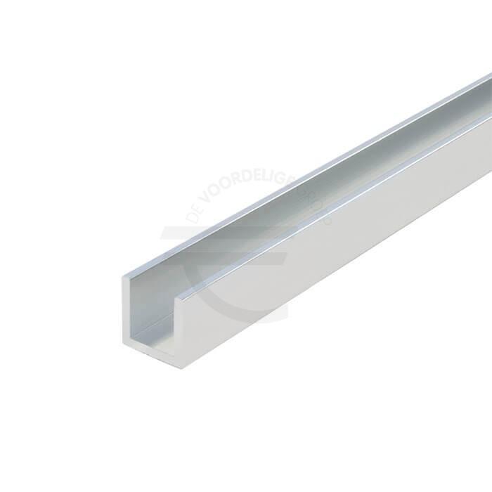 Aluminium gepolijst u-profiel 15 x 15 x 15