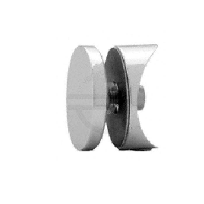 HYDG180CH 180 graden glas - rail bevestiging