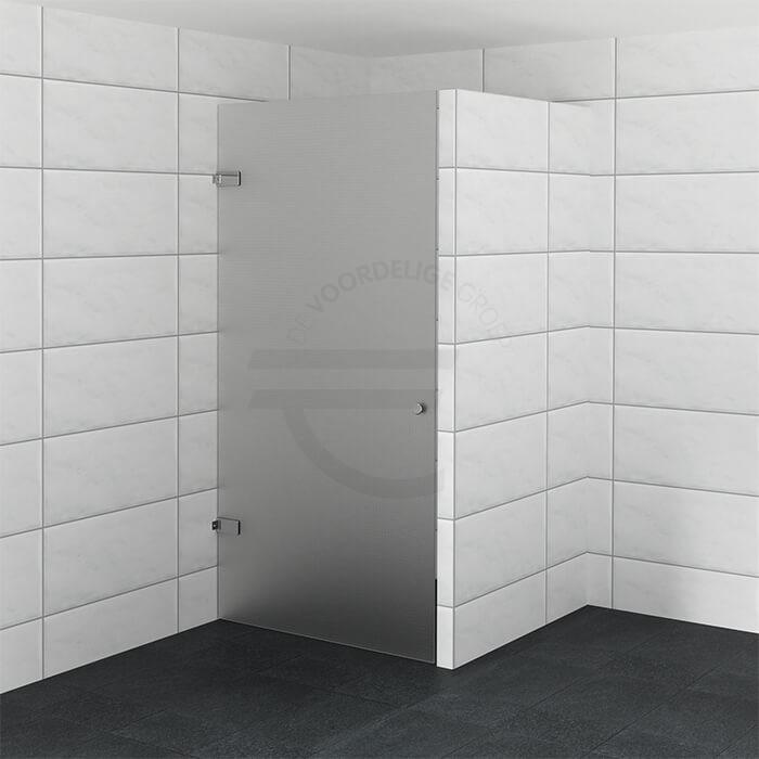 Luxe douchedeur op maat van matglas | De Voordelige Groep