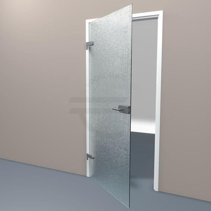 Voorbeeld van een opdekdeur van crepi glas