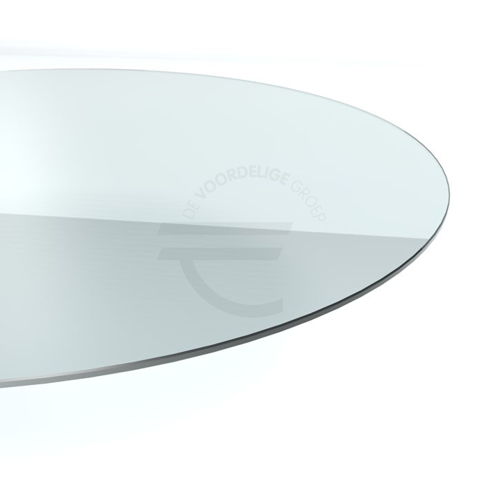 ronde vorm glazen tafelblad