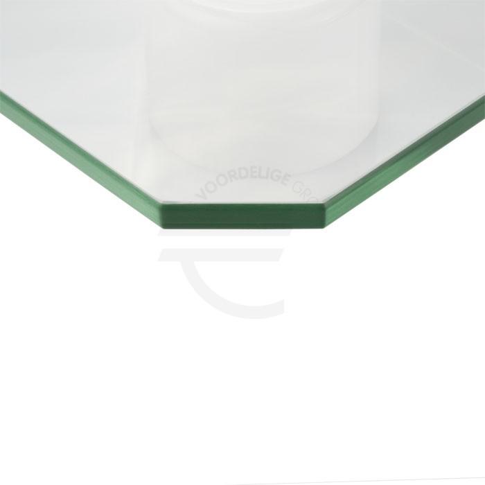 Schuine hoeken glas