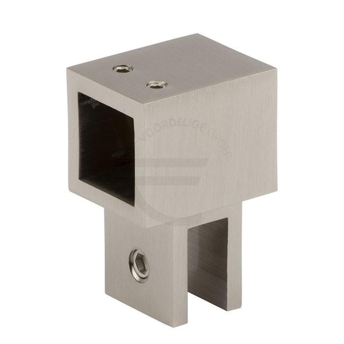 Glasbevestiging-instelbaar-vierkant-8-10mm-RVS-effect