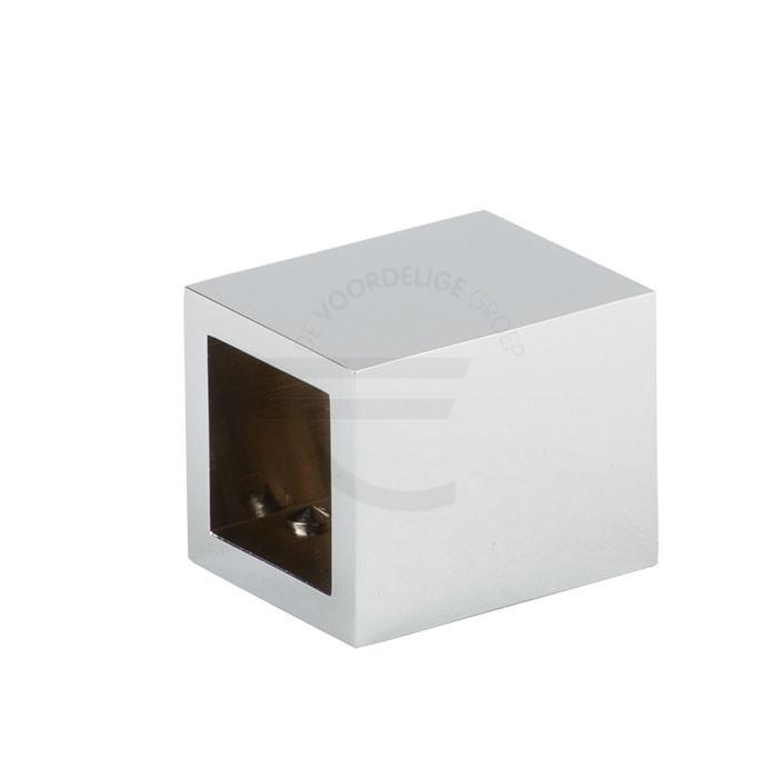 Muur / plafond bevestiging-vierkante-stabilisatiestang-glans-chroom