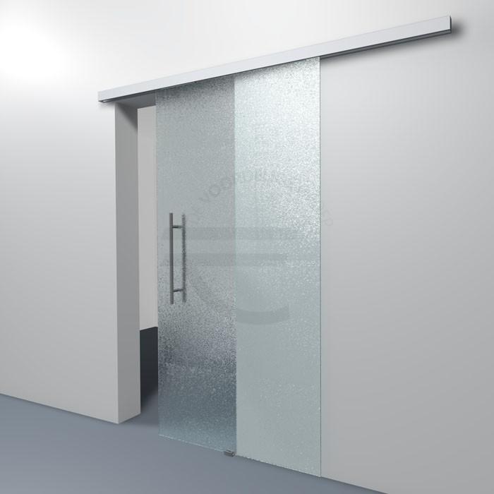 Crepi glazen schuifdeur met dichte rails de voordelige groep for Klinken voor binnendeuren