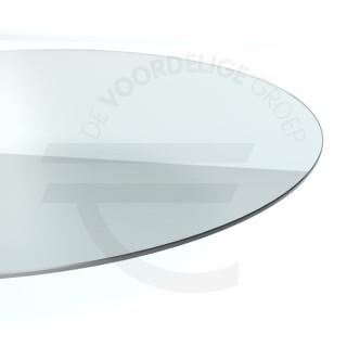 Glazen Tafelblad Rond.Rond Helder Glazen Tafelblad 8mm Dik