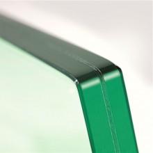 Op deze afbeelding zijn twee glasplaten zichtbaar met een laag folie ertussen.
