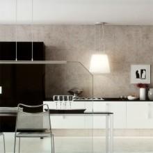 Keuken spatwand van helder glas