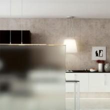 Spatwand keuken van mat glas
