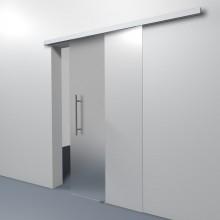 Het schuifdeursysteem met gesloten rails