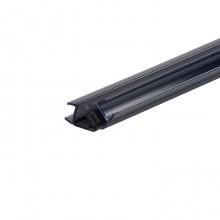 Magneetstrip met schuine hoek 135º zwart