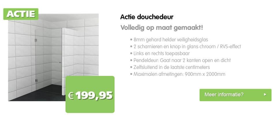 Actie-Douchedeur-op-maat